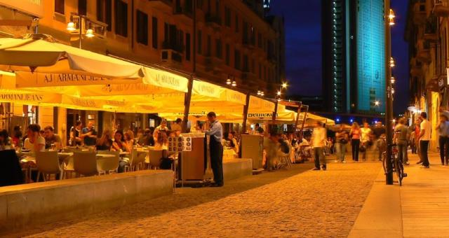 The nightlife in Milan
