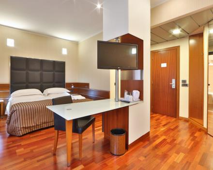delightful Suite, for a sophisticated audience with parquet, led tv, wardrobe, free wi fi