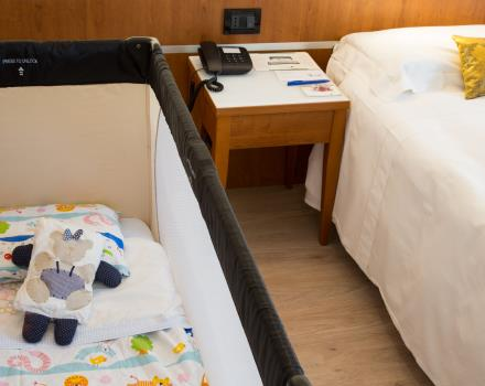 Family rooms with additional bed, bath tub in the room. Ideal for those who like to bring bibmi