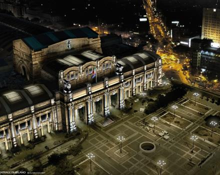Let us brighten by the lights of the Central Station of Milan!